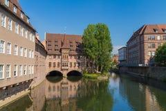 De rivier van Nuremberg royalty-vrije stock foto