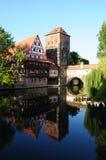 De rivier van Nuremberg Royalty-vrije Stock Afbeelding