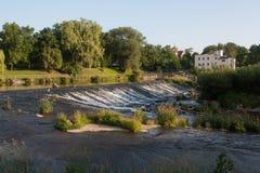 De rivier van Nysaklodzka in zuidwestenpolen Stock Foto