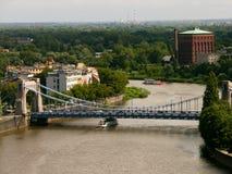 De rivier van Odra in Wroclaw royalty-vrije stock foto's