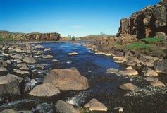 De rivier van Orhon - Mongolië Stock Foto's