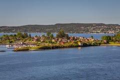 De Rivier van Oslo Stock Afbeelding