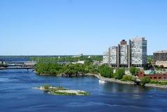 De rivier van Ottawa Ontario Stock Afbeelding