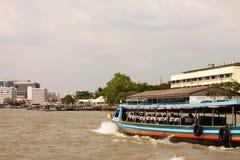De Rivier van Phraya van Chao Stock Foto