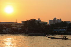 De rivier van Phraya van Chao Stock Fotografie