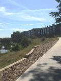 De rivier van promenadesan antonio Stock Foto's