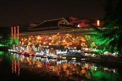 De Rivier van Qinhuai stock foto's