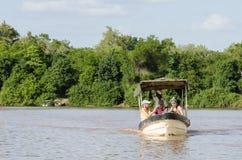 De rivier van Rufiji van de toeristenboot Stock Fotografie
