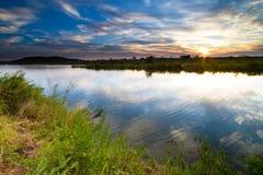 De rivier van Runde Royalty-vrije Stock Afbeeldingen