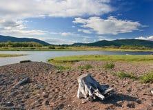 De rivier van Samerga Stock Afbeeldingen