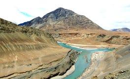 De rivier van Sangam Royalty-vrije Stock Foto