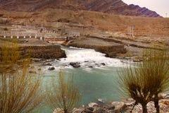 De rivier van Sangam Stock Foto