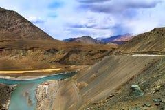De rivier van Sangam Stock Afbeelding