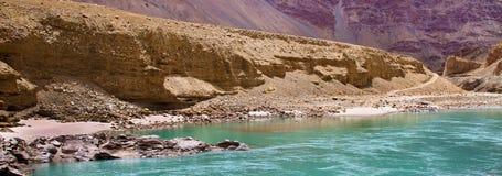 De rivier van Sangam Stock Foto's