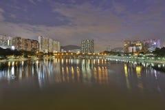 De rivier van Shingsmun, Hong Kong 2016 Stock Foto