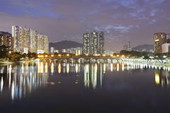 De rivier van Shingsmun, Hong Kong 2016 Stock Fotografie