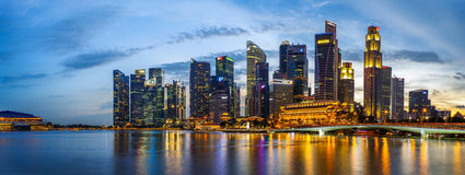 De Rivier van Singapore Royalty-vrije Stock Foto's