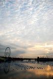 De rivier van Singapore bij ochtend Stock Fotografie