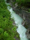 De rivier van SoÄa, Slovenië Royalty-vrije Stock Fotografie