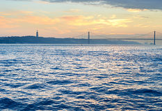 De Rivier van Tagus, Lissabon, Portugal Royalty-vrije Stock Afbeelding