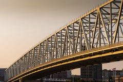De Rivier van Taylor Southgate Bridge - van Ohio stock afbeelding
