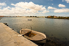 De rivier van Tejo. Royalty-vrije Stock Afbeeldingen