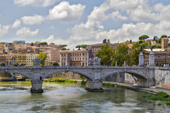 De Rivier van Tiber in Rome Stock Afbeelding