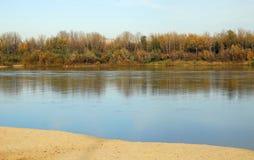 De rivier van Vistula Stock Foto's