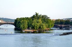 De rivier van Vltava Stock Afbeeldingen