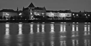 De rivier van Vltava in Praag royalty-vrije stock foto's