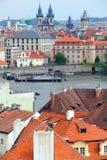 De rivier van Vltava van de bovengenoemde Tsjechische republiek van Praag Royalty-vrije Stock Afbeelding