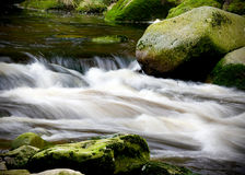 De Rivier van Vydra, Sumava Bergen, Tsjechische Republiek, Stock Afbeeldingen