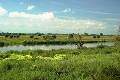 De rivier van Warta Royalty-vrije Stock Foto