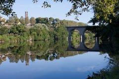 De rivier van Wenen in Limoges, Frankrijk Royalty-vrije Stock Foto's