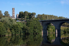 De rivier van Wenen in Limoges, Frankrijk Royalty-vrije Stock Foto