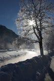 De rivier van Winterly Royalty-vrije Stock Afbeelding