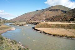 De rivier van Xianshui Stock Afbeelding