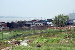 De rivier van Yangtze stock afbeeldingen
