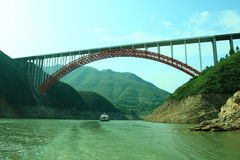 De rivier van Yangtze royalty-vrije stock foto