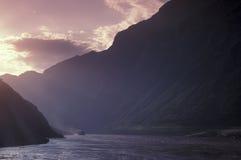 De rivier van Yangzi Stock Foto