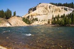 De rivier van Yellowstone stock afbeeldingen
