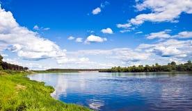 De rivier Vyatka Stock Afbeelding