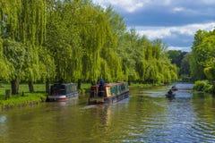 De Rivier Wey Guildford, Surrey, Engeland stock afbeeldingen