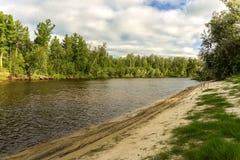 De rivier Yagenetta van het de zomerlandschap Royalty-vrije Stock Afbeelding