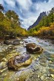 De rivierader van de berg Royalty-vrije Stock Fotografie