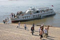 De rivierboot van de passagier. Royalty-vrije Stock Afbeeldingen