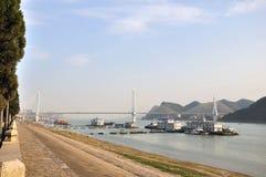 De rivierbrug 7 van Yangtze van Yiling Royalty-vrije Stock Fotografie