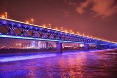 De rivierbrug van Wuhan yangtze royalty-vrije stock fotografie