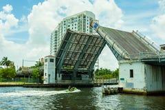 De Riviercityscape van Miami Stock Foto's