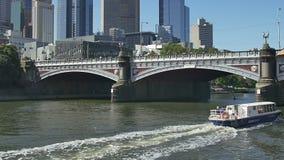 De Riviercruises van Melbourne stock footage